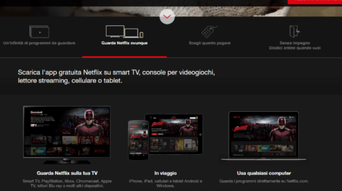 Netflix: quali dispositivi supportano la visione?