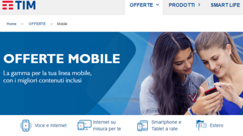 Offerte Tim Mobile: Tariffe Solo Sim