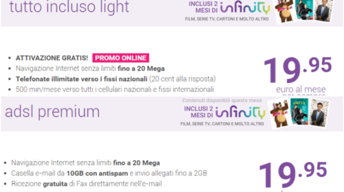 Confronto Tiscali ADSL: Tutto Incluso Light o ADSL Premium?