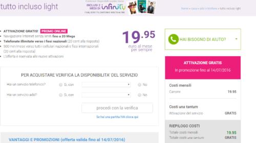 Offerta ADSL Tiscali Tutto Incluso Light in Promozione