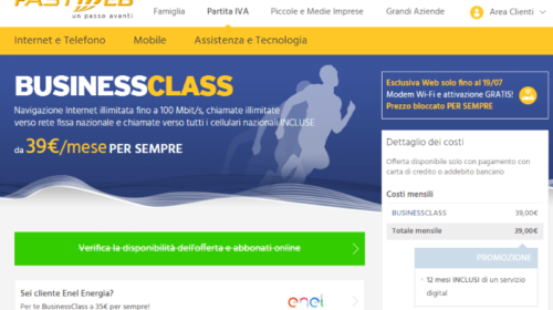 Offerte ADSL Business: Fastweb BusinessClass