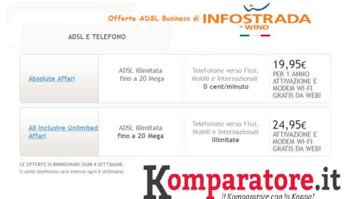 Offerte ADSL Business Infostrada in Promozione