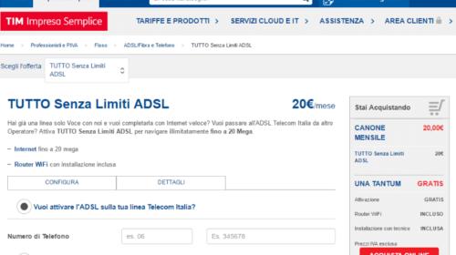 Offerte ADSL Business: Tim Tutto Senza Limiti ADSL