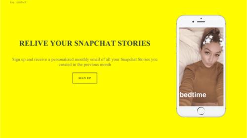 Snapchat: ora è possibile salvare le storie e gli snap