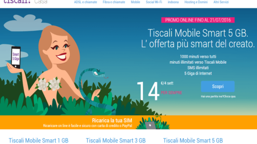 Tiscali Mobile Smart: Tariffe Cellulari Tiscali in Offerta