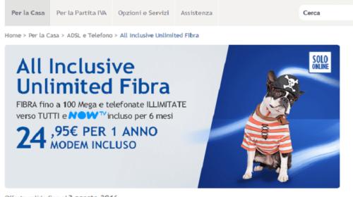 Infostrada All Inclusive Unlimited Fibra in Promozione