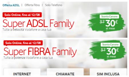 Offerte Vodafone Super ADSL Family e Super Fibra Family