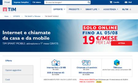 Offerte tim casa con smartphone for Offerte mobile