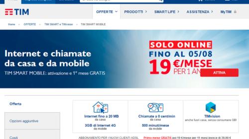 Tim Smart Mobile: Offerte Internet Casa e Smartphone
