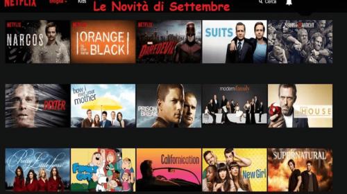 Netflix Italia: le Novità di Settembre