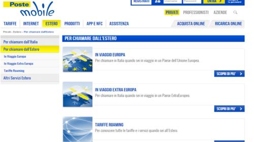 Poste Mobile: Tariffe per Chiamare e Navigare all'Estero