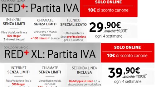 Vodafone Business: Offerte Red per Partita IVA
