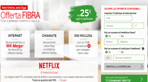 Fibra Ottica Vodafone: Offerte e Comuni Coperti