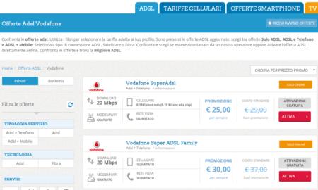 Offerte vodafone internet adsl e chiamate per casa e mobile - Internet en casa de vodafone ...