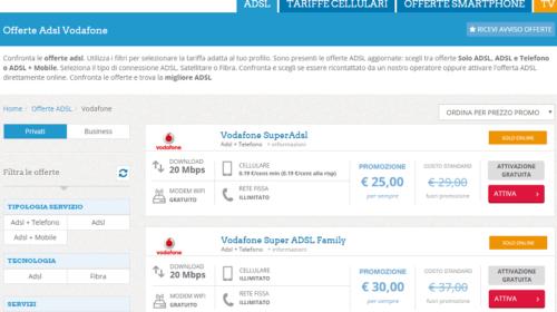 Offerte Vodafone: internet ADSL e Chiamate per Casa e Mobile