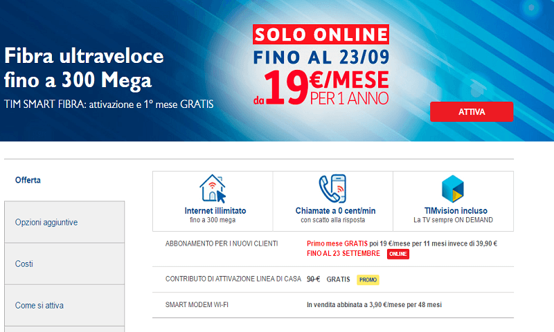 Fibra Ottica TIM: Offerte Telecom Fibra e Copertura Banda ...