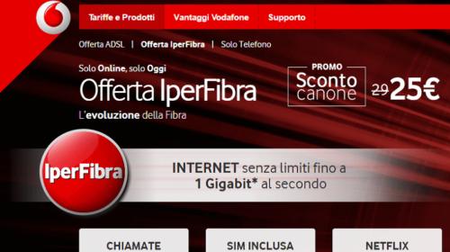 IperFibra Vodafone: Sconto per Sempre Solo per Oggi