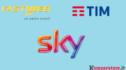 Sky e Tim o Sky e Fastweb: Quale Offerta con Fibra Ottica Scegliere