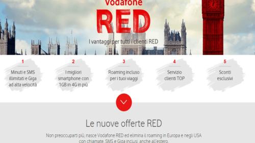 Tariffe Cellulari: Offerte Vodafone RED senza Roaming in Europa e Stati Uniti