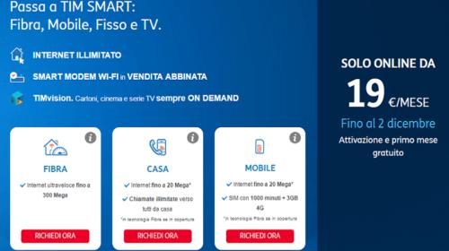 TIM Smart Mobile e Fisso Insieme con Sconto di 120€