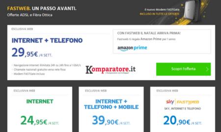 Amazon Prime In Regalo Con Le Tariffe Fastweb Internet