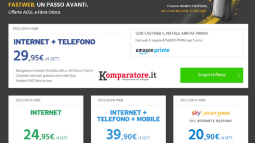 Amazon Prime In Regalo Con Le Tariffe Fastweb Internet